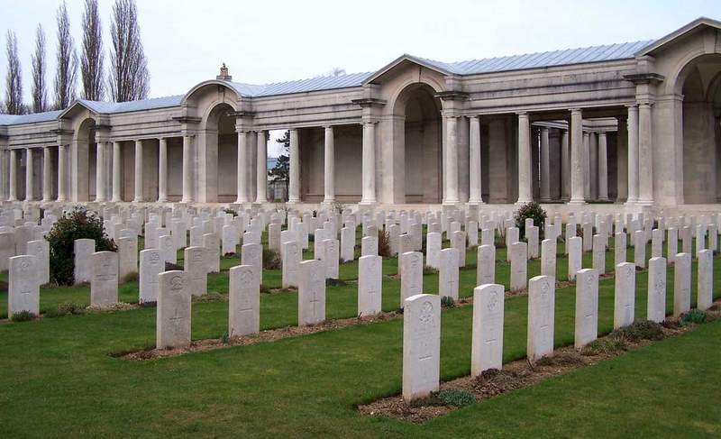 The Arras Memorial (Faubourg-d'Amiens), Arras, France.