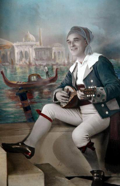 George Cook as Marco, The Gondoliers about 1920