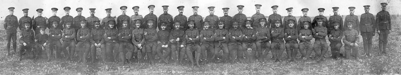 The sergeants at Sewell Camp 1915
