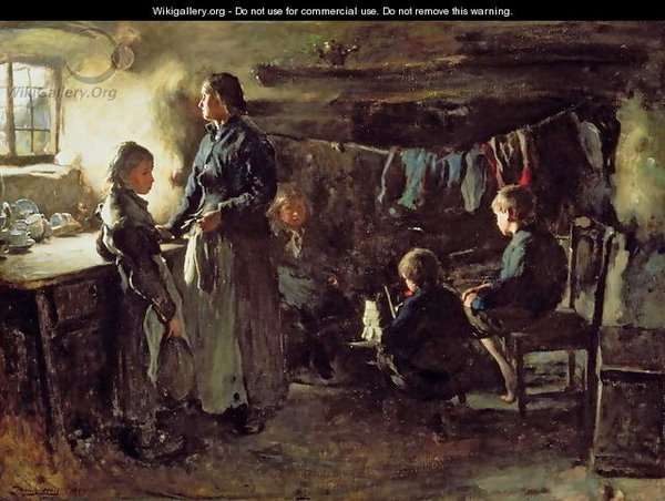 'Hope' painting by Frank Holl (1883)