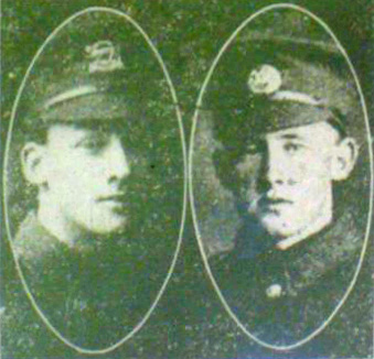 The Crane Brothers: George (left) and Ernest (right).
