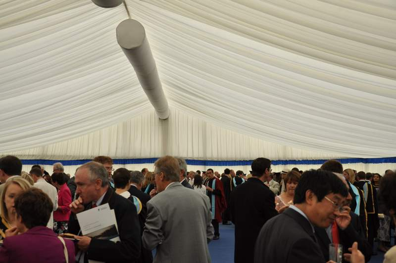 Refreshments in the Hospitality tent
