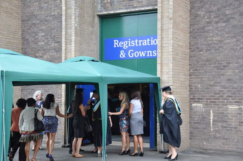 Registration and gowning