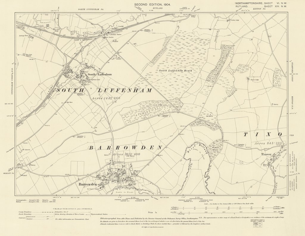 Barrowden map