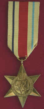 The Africa star with 8th Army Clasp