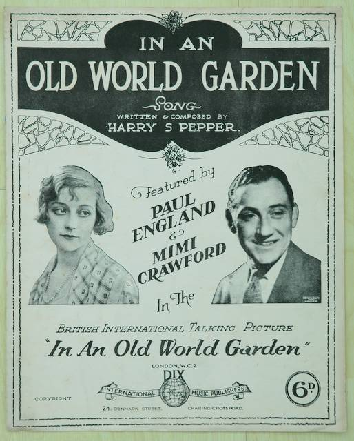 Sheet music: the score to In An Old World Garden