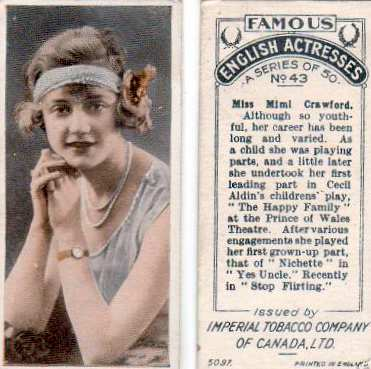 Mimi Crawford (Cigarette card)