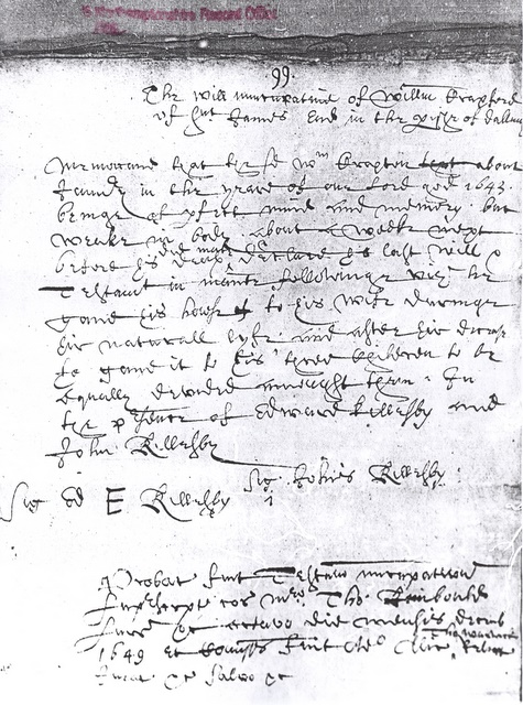 The will of William Craxford