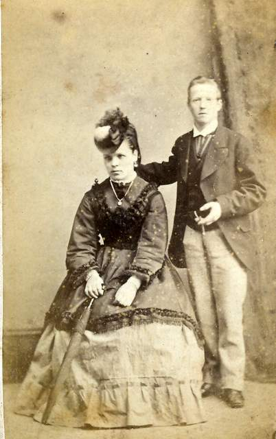 An early portrait of Walter Cook and Elizabeth Burditt