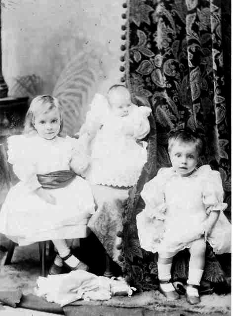Mary Naylor with infant brothers