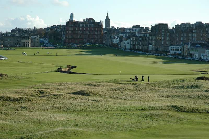 The Old Course looking south