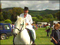 Village Fayre: Uncle Tom Cobbley rides the mare to market