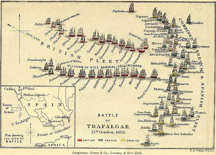 Link to map of the Battle of Trafalgar