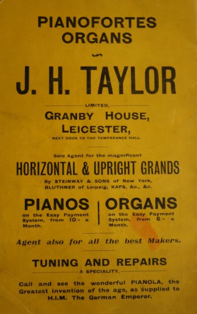 JH Taylor advertisement
