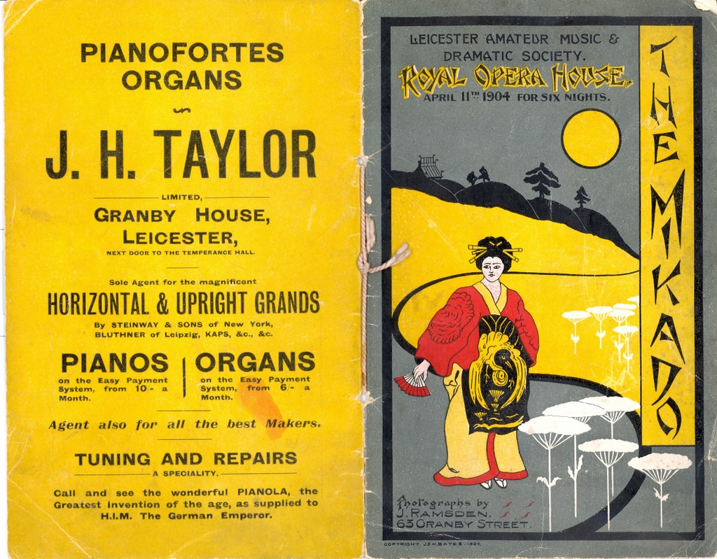Front and rear cover of the programme