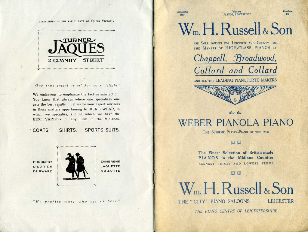 Turner Jaques: Wm H Russell advertisements