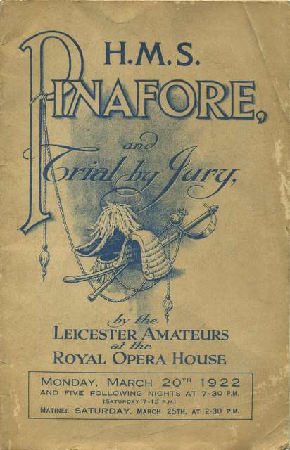 The programme cover