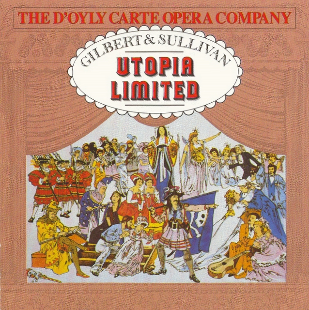 'Utopia Limited' cover from the D'Oyly Carte CD collection