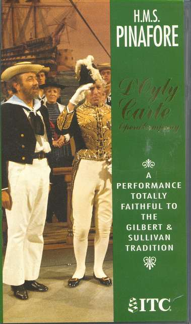 D'Oyly Carte recording of 'HMS Pinafore' DVD 1973