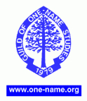 Guild of One-Name Studies web site