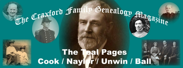 Teal banner: The Craxford Family Magazine Teal Pages